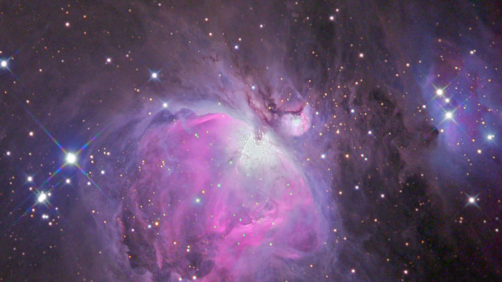 Nebulosa di Orione a colori - foto di Corrado Di Noto