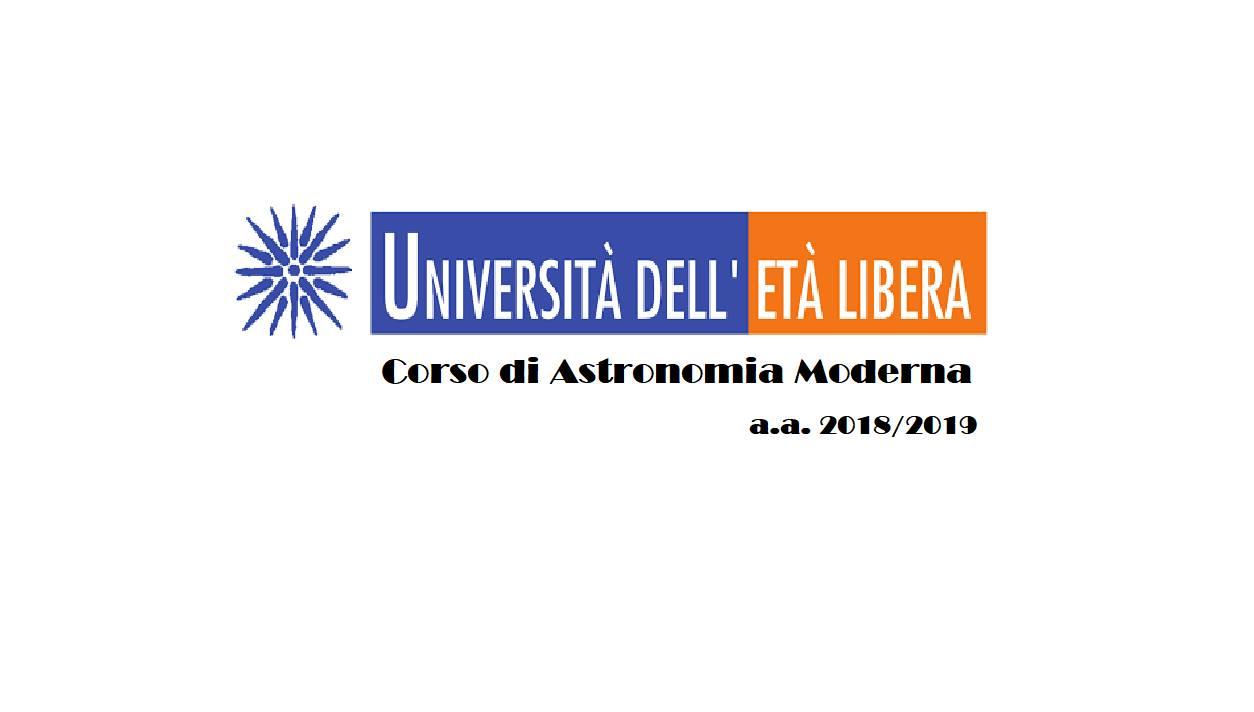 Corso di Astronomia Moderna all'Università dell'Età libera