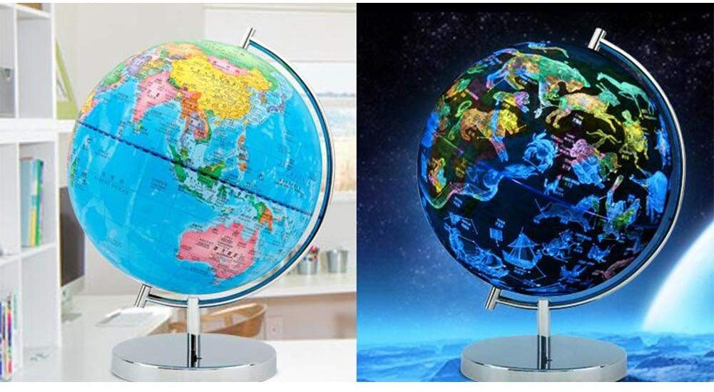 Globo terrestre e costellazioni. Mappamondo
