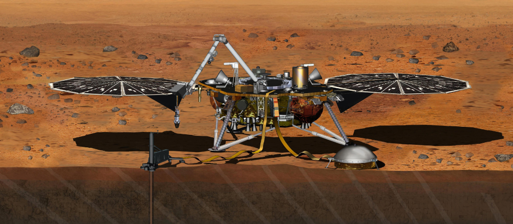 Render 3d del nuovo lander InSight