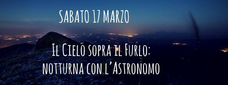 Il Cielo sopra il Furlo: notturna con l'astronomo